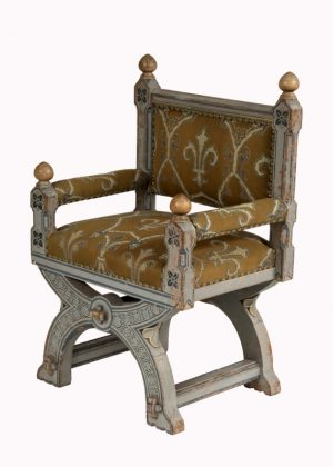 A painted Gothic Revival chair -1596