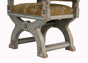 A painted Gothic Revival chair -1600