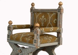 A painted Gothic Revival chair -1598