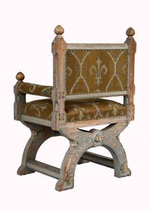 A painted Gothic Revival chair -1601