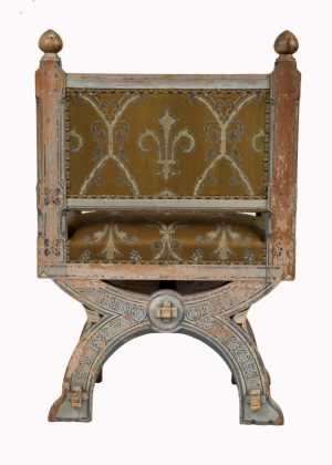 A painted Gothic Revival chair -1602