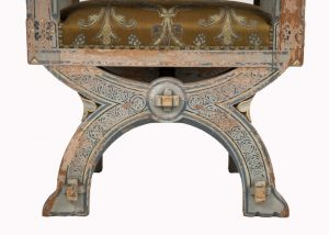 A painted Gothic Revival chair -1603