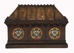 A Gothic Revival painted coffer -0