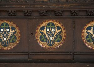 A Gothic Revival painted coffer -1627