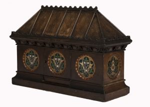 A Gothic Revival painted coffer -1628