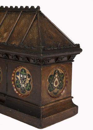A Gothic Revival painted coffer -1631