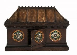 A Gothic Revival painted coffer -1637