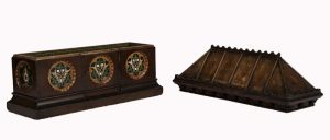 A Gothic Revival painted coffer -1633