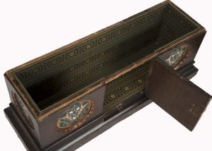 A Gothic Revival painted coffer -1636