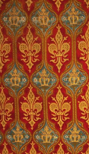 A section of Gothic Revival needlework-0