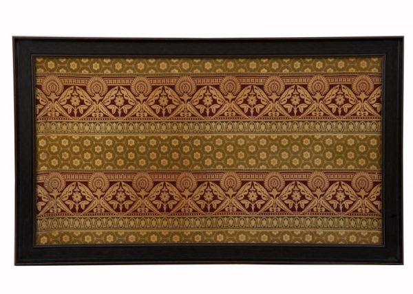 A framed woven silk & wool panel -0