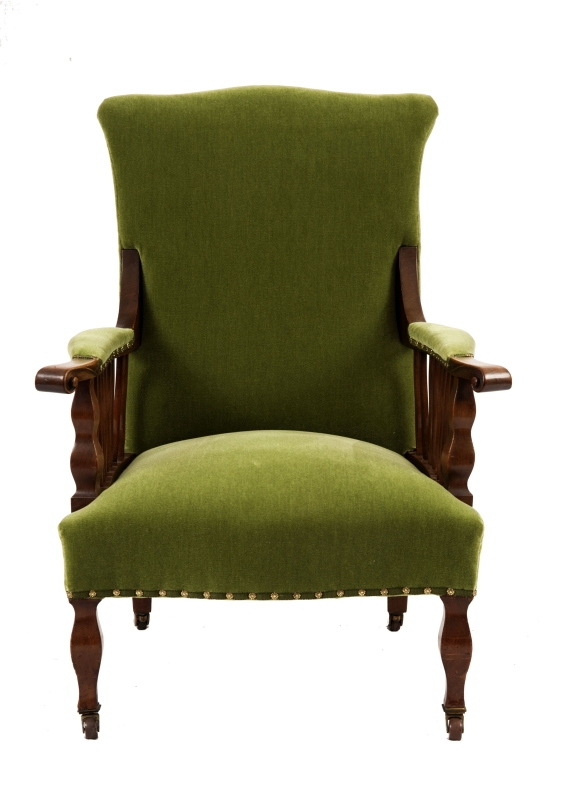 A mahogany armchair-0
