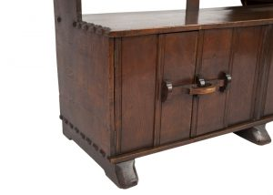 An oak bookcase with cupboards-1691