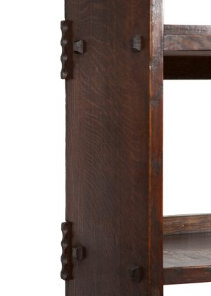 An oak bookcase with cupboards-1693