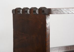 An oak bookcase with cupboards-1692