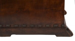 An oak bookcase with cupboards-1695