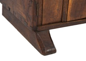 A narrow oak bookcase with cupboards-1710
