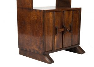 A narrow oak bookcase with cupboards-1704