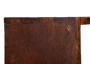 A narrow oak bookcase with cupboards-1705