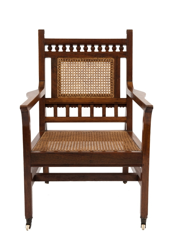 An Anglo Indian Aesthetic Movement armchair-0