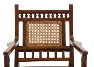 An Anglo Indian Aesthetic Movement armchair-1730