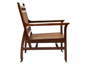 An Anglo Indian Aesthetic Movement armchair-1733