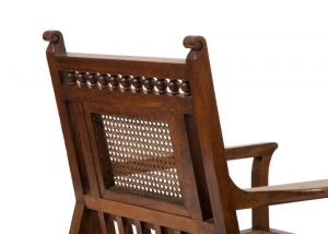 An Anglo Indian Aesthetic Movement armchair-1734
