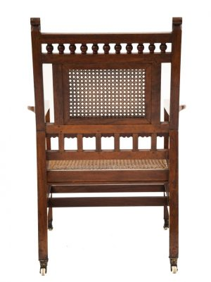 An Anglo Indian Aesthetic Movement armchair-1736