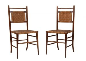 A pair of Aesthetic Movement side chairs-0