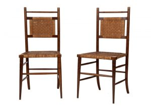 A pair of Aesthetic Movement side chairs-1755