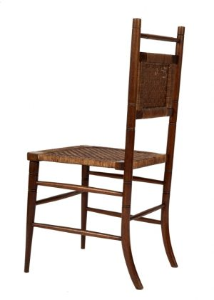 A pair of Aesthetic Movement side chairs-1754