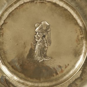 A set of five Alice In Wonderland brass chargers -1760