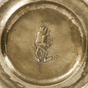 A set of five Alice In Wonderland brass chargers -1765