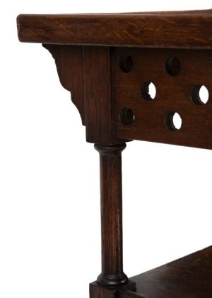 A small Oak Anglo Japanese table -1825