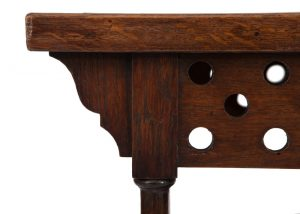 A small Oak Anglo Japanese table -1827
