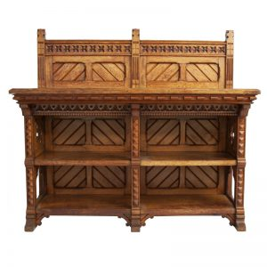 An oak side cabinet -0