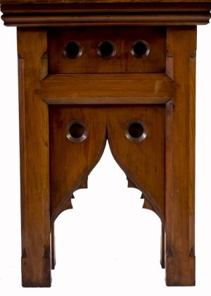 A pitch or Oregon pine sculpture stand -1873