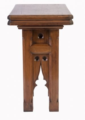 A pitch or Oregon pine sculpture stand -1876