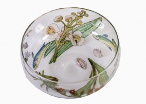 Enamelled glass bowl
