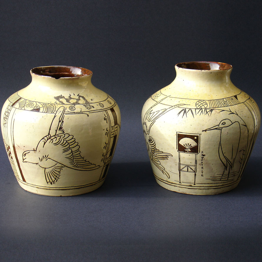 A pair of Godwin Vases