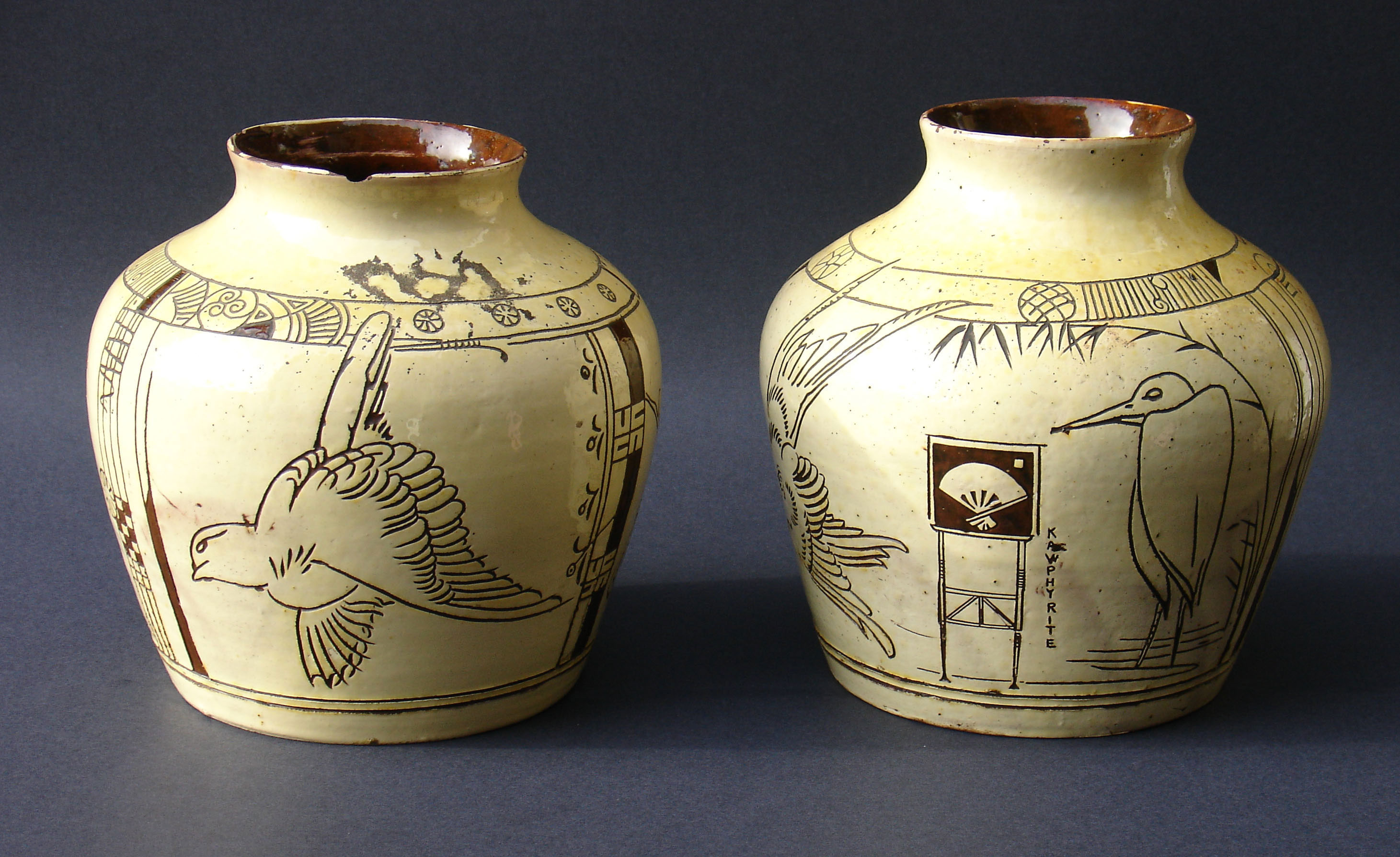 A pair of Godwin Vases ceramic antiques from Paul Reeves