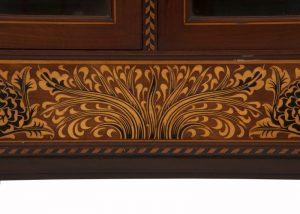 A rare inlaid cabinet