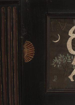 a door panel on the 'I Giorni' unique cabinet