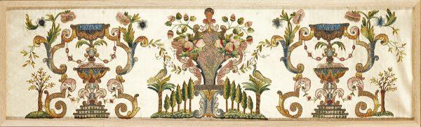 A framed Portuguese Renaissance revival silkwork panel from Paul Reeves London