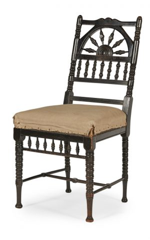 An Aesthetic Movement ebonised side chair.