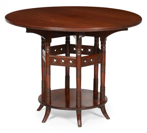 An Aesthetic Movement rosewood centre table.