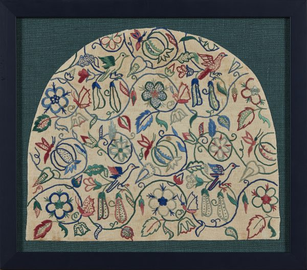 A framed embroidered silkwork 'Hardwicke' panel, by The Royal School of Needlework. From Paul Reeves London
