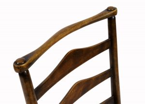 A rush seated oak side chair