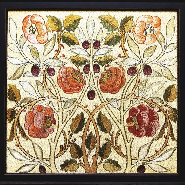 A framed silk embroidery from Paul Reeves London