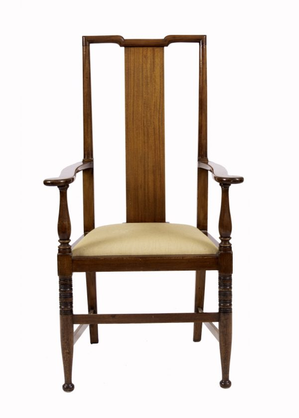 An Arts and Crafts mahogany armchair from Paul Reeves London